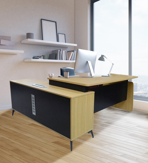 Fantastic Kallax Executive Office Desk In Black And Natural Colour By Eros Download Free Architecture Designs Osuribritishbridgeorg
