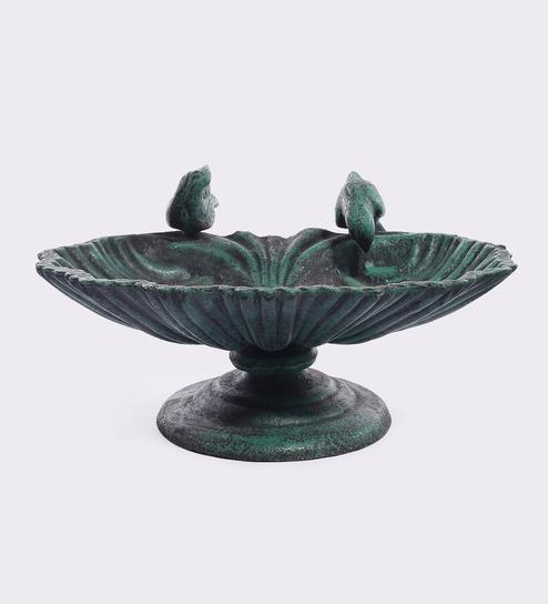 Green Cast Iron Bird Bath Garden Decor By Karara Mujme