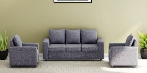 Magnificent Kayoto 3 1 1 Sofa Set In Grey Colour By Looking Good Furniture Ibusinesslaw Wood Chair Design Ideas Ibusinesslaworg