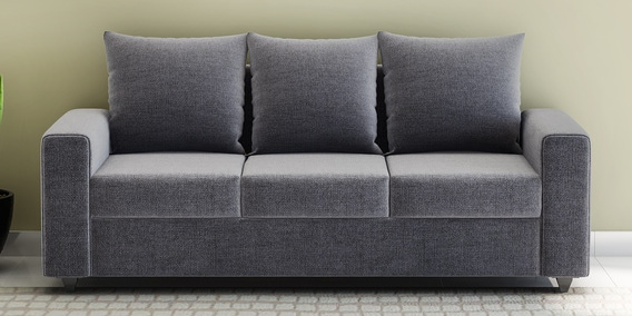 Kayoto Three Seater Sofa In Grey Colour By Looking Good Furniture