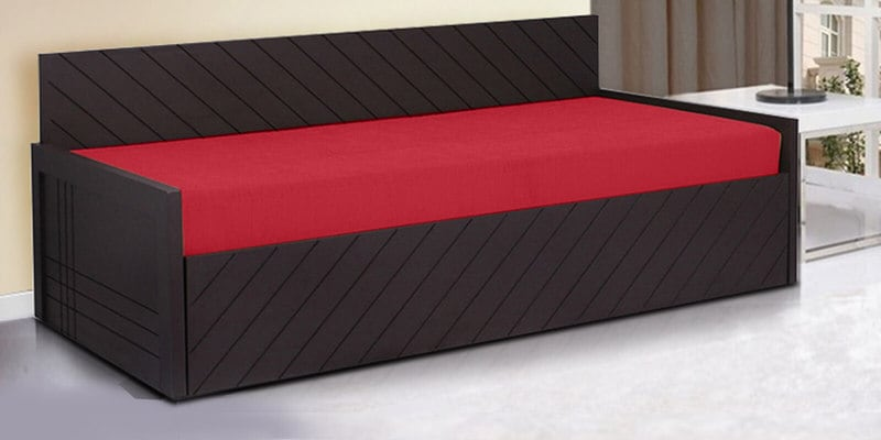 Kaiden Sofa Cum Bed in Red Colour by Auspicious Home