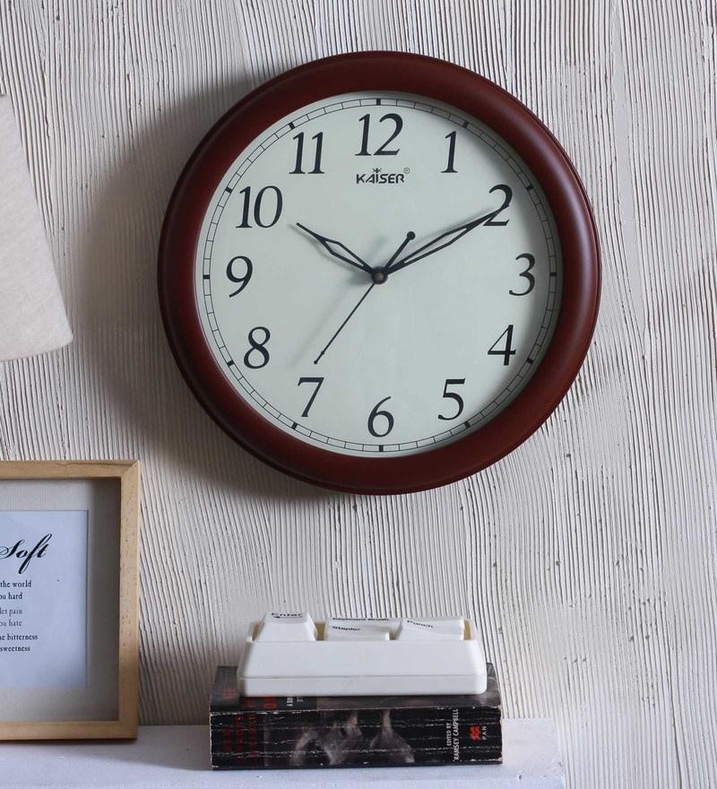Kaiser Cola Wood 11.4 x 1.7 x 11.4 Inch Wall Clock