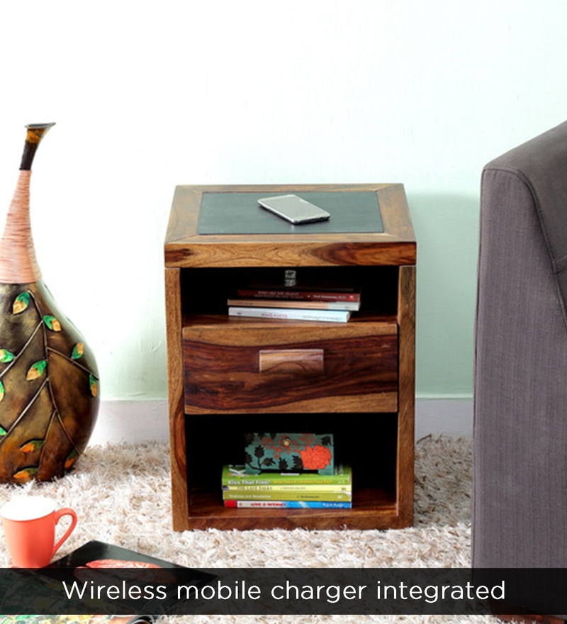 buy nexo wireless charging bed side table with drawer in