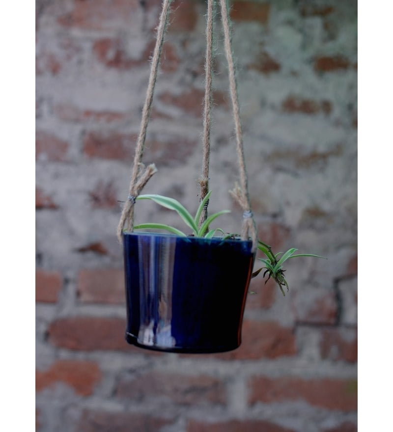 Glass Bucket Planter by Kavi