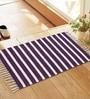 Azaani Purple Jute 34 x 22 Inch Woven Stripe Area Rug