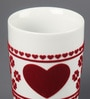 Kahla Touch Red Fortune Heart Porcelain 350 ML Five Senses Large Mug