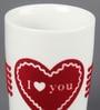 Kahla Touch Red I Love You Porcelain 350 ML Five Senses Large Mug