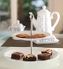 Kahla Update Midi White Porcelain 2 Tier Cake Stand