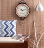 Kaiser Multicolour Wooden 12.2 x 16.3 Inch Wall Clock