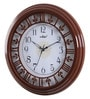 Walnut Wooden 13.2 Inch Round Wall Clock by Kaiser