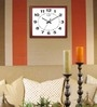 Brown Wooden 17 x 14 Inch Square Designed Cola Wall Clock by Kaiser