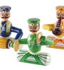 Multicolour Wooden Handmade Musician Showpieces - Set of 3 by Kalaplanet
