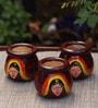 Kalaplanet Multicolor Wooden Decorative Pots - Set Of 3