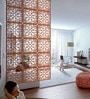 Brown Acrylic with Wooden Lamination Classic Room Divider by Planet Decor