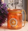 Gupta Glass Gallery Orange Glass Tea Light Holder