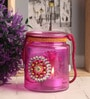 Gupta Glass Gallery Pink Glass Tea Light Holder