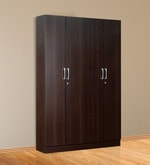 Kenzou Four Door Wardrobe in Wenge Finish