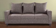Keiko Three Seater Sofa in Brown Colour