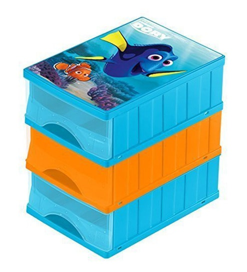 Keeeper Finding Dory Plastic Drawer Boxes - Set of 3