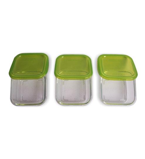 Buy Luminarc Keep N Box Green 360 Ml Storage Container Set of 3