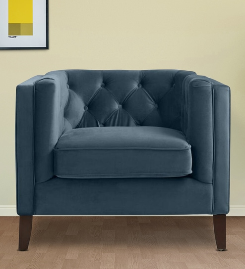 Peachy Kendall 1 Seater Sofa In Midnight Blue Colour By Twigs Direct Short Links Chair Design For Home Short Linksinfo