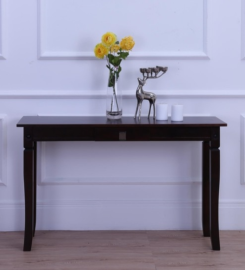 Kermit Console Table In Light Cappuccino Finish By Fonzel