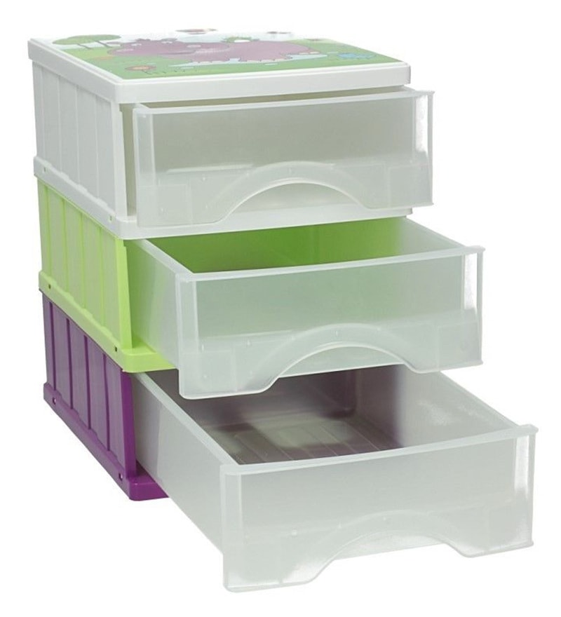 Keeeper Hippo Plastic Drawer Boxes - Set of 3