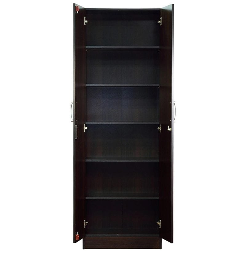 buy kenzou two door wardrobe in wenge finish by mintwud. Black Bedroom Furniture Sets. Home Design Ideas