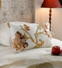Multicolour Cotton & Wool 12 x 20 Inch New Shalimar Gold Cushion Cover by KEH