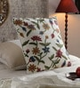 Multicolour Cotton & Wool 20 x 20 Inch All Over Floral Cushion Cover by KEH
