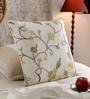 KEH Multicolour Cotton & Wool 20 x 20 Inch Flower Handmade Cushion Cover
