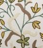 Multicolour Cotton & Wool 20 x 20 Inch Kasan Cushion Cover by KEH