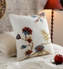 KEH Multicolour Cotton & Wool 20 x 20 Inch Motif Bright Cushion Cover