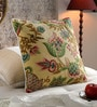 KEH Multicolour Cotton & Wool 20 x 20 Inch New Big Flower Cushion Cover