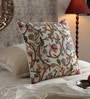 Multicolour Cotton & Wool 20 x 20 Inch Scroll Cushion Cover by KEH