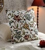 KEH Multicolour Cotton & Wool 20 x 20 Inch Chinar Cushion Cover