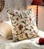 Multicolour Cotton & Wool 20 x 20 Inch Techmal Cushion Cover by KEH