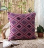 Multicolour Wool and Cotton Embroidery 18 x 18 Inch Artistic Handmade Chain Stitch Cushion Cover by KEH