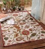 Multicolour Wool Artistic & Hand Embroidered Area Rug by KEH