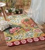 Multicolour Wool Embroidered Area Rug by KEH