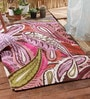 Multicolour Wool Floral Chain Stitch Area Rug by KEH