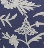 KEH White & Blue Cotton & Wool 20 x 20 Inch American Flower Cushion Cover