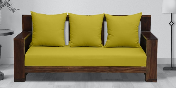 Khyati Solid Wood 3 Seater Sofa In, Wooden Sofa Designs For Living Room