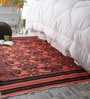 Khadi Black & Red Cotton 78 x 42 Inch Gulbahar Dhurrie