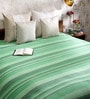 Khadi Green Cotton Stripes & Checks 100 x 90 Inch Queen Beds Bed Sheet