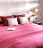 Khadi Pink Cotton Stripes 100 x 90 Inch Queen Bed Sheet
