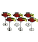 King International Stainless Steel Martini Glass - Set of 6