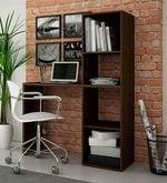 Kishi Study Desk with Book Shelf in Tobacco Finish