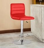 Kitchen/Bar Stool in Red Leatherette