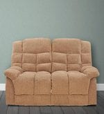 Kiwi Two Seater Recliner in Brown Colour